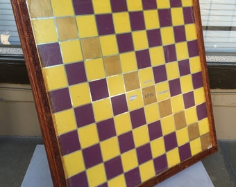 Purple and Gold Custom made Checkerboard