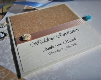Pocketfold Wedding Invitation Pagane - SAMPLE