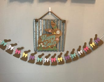 Craft paper bunny Garland