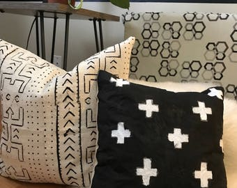 Black and white cross Pillow case