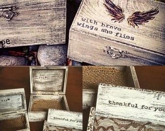 Customized Keepsake Boxes- Small