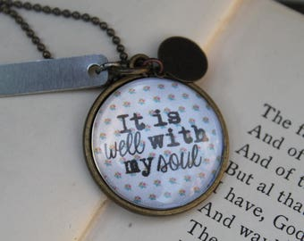 It Is Well With My Soul Personalized Necklace