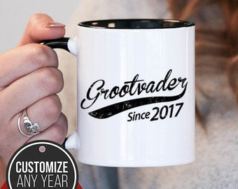 Grootvader Since (Any Year) Grootvader Gift, Grootvader Birthday, Grootvader Mug, Grootvader Gift Idea, Baby Shower,