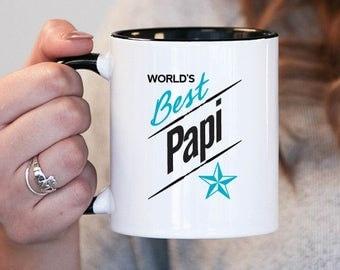 Worlds Best Papi Papi Gift, Papi Birthday, Papi Mug, Papi Gift Idea, Baby Shower, Mothers Day