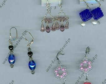 4 Sets of Handmade Beaded Earrings