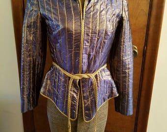 Vintage 1980s Iridescent Designer Jacket