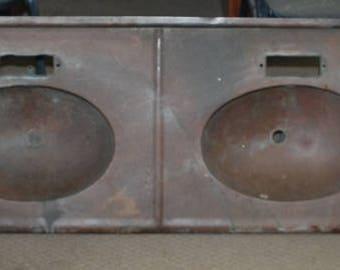 Vintage Copper Double Bowl Bathroom Sink