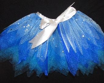 """Blue Tutu for 18"""" American dolls dance skirt"""