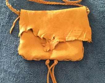 Deer hide small bag