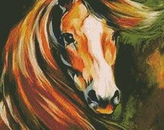 Cross Stitch Pattern Horse 105 PDF