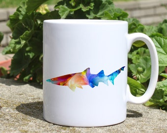 Dangerous Shark mug - Ocean mug - Colorful printed mug - Tee mug - Coffee Mug - Gift Idea