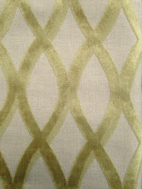 thibaut helix cut velvet designer upholstery fabric in moss pattern w7275 275 yards from on etsy studio