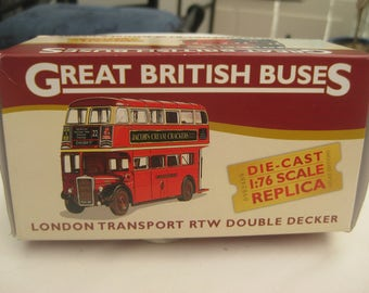 Vintage Die-Cast London Transport RTW Double Decker Bus