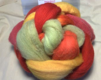 Chubut extrafine 19.5 mic. hand dyed roving top 100 g - Chubut fibres hand-dyed