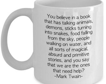 Mark Twain Atheist Quote Gift