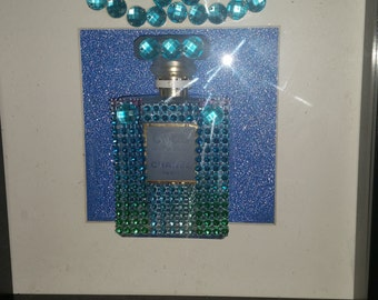 My homemade bling Chanel perfume bottles