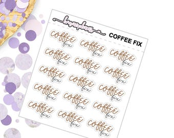 3 Types of Coffee Lettering - Planner Stickers, Erin Condren, Happy Planner
