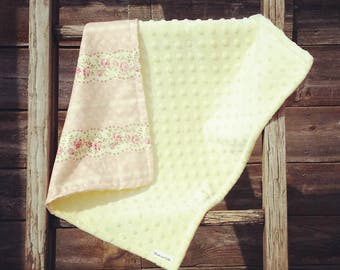 Small floral minky blanket