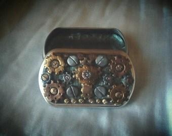 Steam punk trinket tin. Medium size