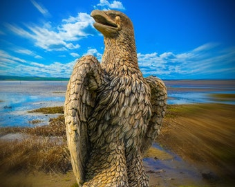 EXCLUSIVE Giant Hand Cast in UK Eagle Ornament Statue Bird of Prey