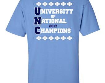 National Champions - Carolina Shirt North Tar Tee Heels T-Shirt Champs 2017