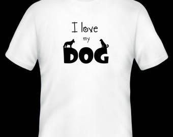 I love my dog t-shirt/pet/ dog/ animal/ t-shirt