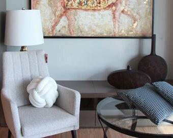 LARGE WHITE Knot Pillow, Knot cushion, Pillow, Cushion, Decorative Pillow, Kids Room Pillow, Nursery Decor, Home Decor, Kids room decor