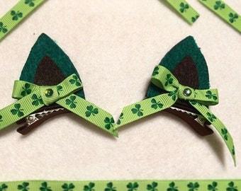 St.Patrick's Day Cat clips