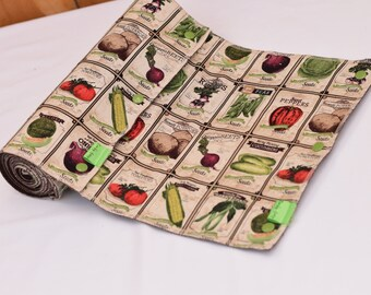 Unpaper Towels- Reusable Cloth Towels- Washable Towels- Eco-Friendly Unpaper Towels- Antique Seed Packets- READY TO SHIP