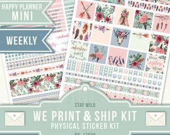 Weekly Planner Stickers, Boho Stickers, Mini Happy Planner, June Planner Stickers, Boho Planner, Tribal Planner, June Weekly,17039
