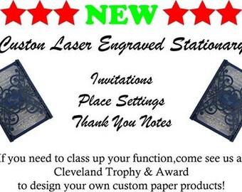 Custom Laser Engraved Stationary