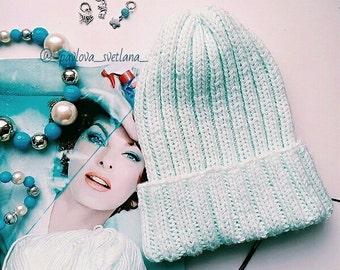 knitted women's cap