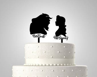 beauty and the beast wedding cake topper rose and the beast cake topper etsy 11250