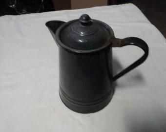 Vintage Galvanized Antique Metal coffee pot