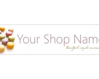 Pastel Macaroons White Shop banner