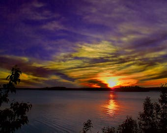 Island Lake, Central Minnesota, USA,  - Canvas Gallery Wrap