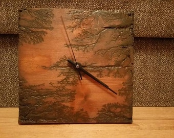 Burned wall clock