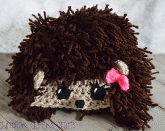 Hedgehog hat, newborn hedgehog hat, baby hedgehog hat, toddler hedgehog hat,  crocheted hedgehog hat, newborn photo prop, baby photo prop,