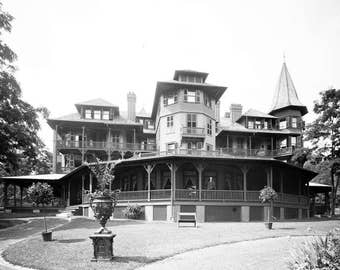 "1890-1910 Sagamore Hotel, Lake George, NY Vintage Photograph 8.5"" x 11"" Reprint"