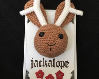 Crochet 'Taxidermy' Jackalope