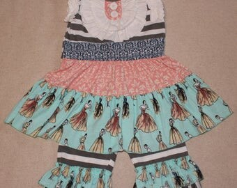 Girls-Toddler-Boutique Style Ruffle Capri Set