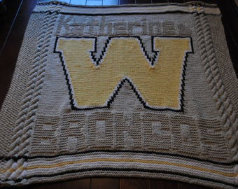 Personalized Knitted Blanket