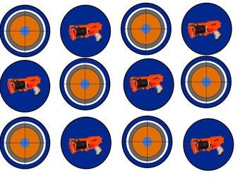 Nerf Gun Cupcake Toppers