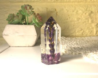 Lavender and Amethyst Mini Crystal