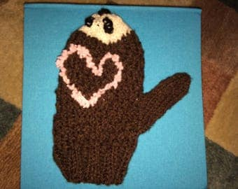 cute and toasty hedgehog gloves!