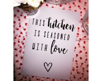 Kitchen quote print