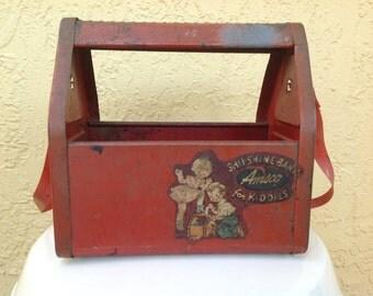 "Vintage Red Tin Toy ""Shu-Shine-Bank For Kiddies"""