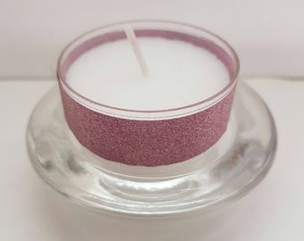 Votive Candle and Glass Base