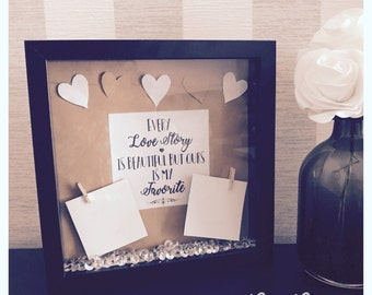 Every love story is  beautiful but ours is my favourite 3d keepsake box frame anniversary gift couples gift picture