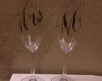 MR&MRS Champagne flute